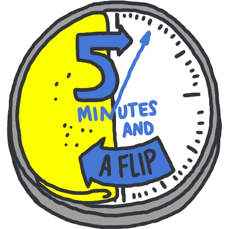 5 Minutes and a Flip logo